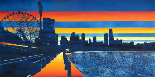 Paintings by Nichole McDaniel seen at Creator's Studio, Laguna Niguel - Navy Pier