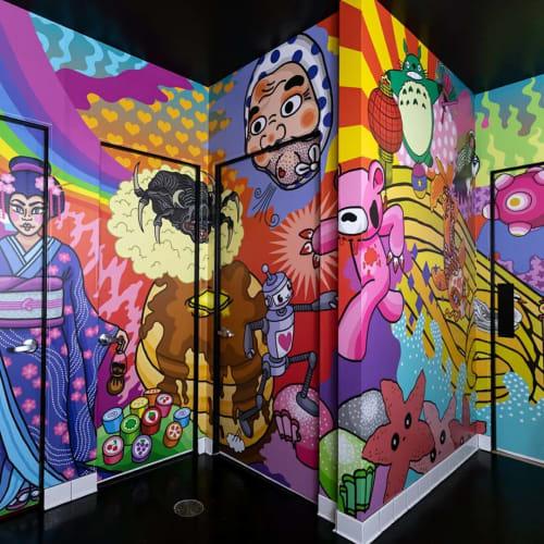 Murals by Shaina Kasztelan seen at Antihero, Ferndale - Indoor Mural