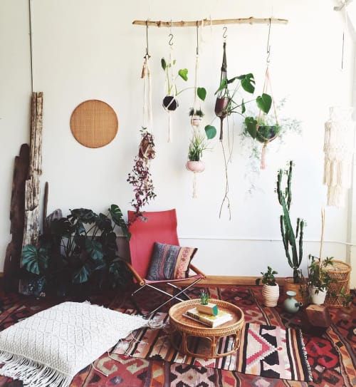 Macrame Wall Hanging by Modern Macramé by Emily Katz seen at Private Residence - Portland OR, Portland - Jungle Love Single Plant Hanger