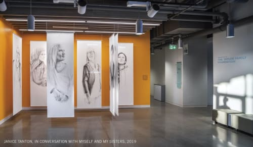 Public Art by Janice Tanton seen at 1715 17 Ave SE, Calgary - In Conversation With Myself and My Sisters (2019)