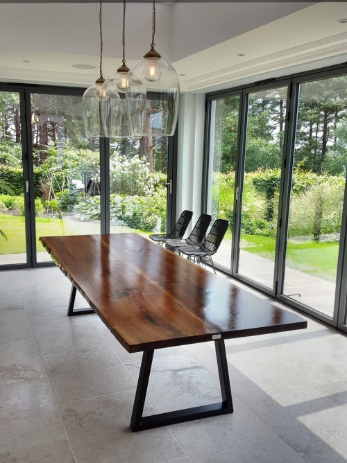 Tables by Handmade in Brighton seen at Private Residence - Live-Edge American Walnut Dining Table