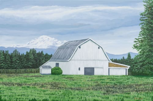 Plants & Landscape by Brenda Calvert seen at Private Residence, Lynden - Country barn landscape of PNW