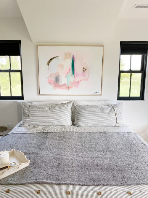Paintings by Jill Block seen at Private Residence, Southern Shores - Across The Universe