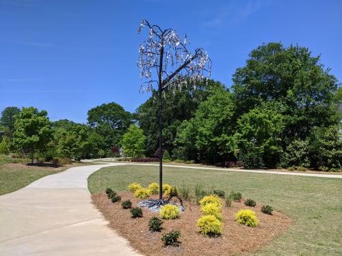 "Public Sculptures by Corrina Sephora seen at Smyrna, Smyrna - ""Willow Archway"""