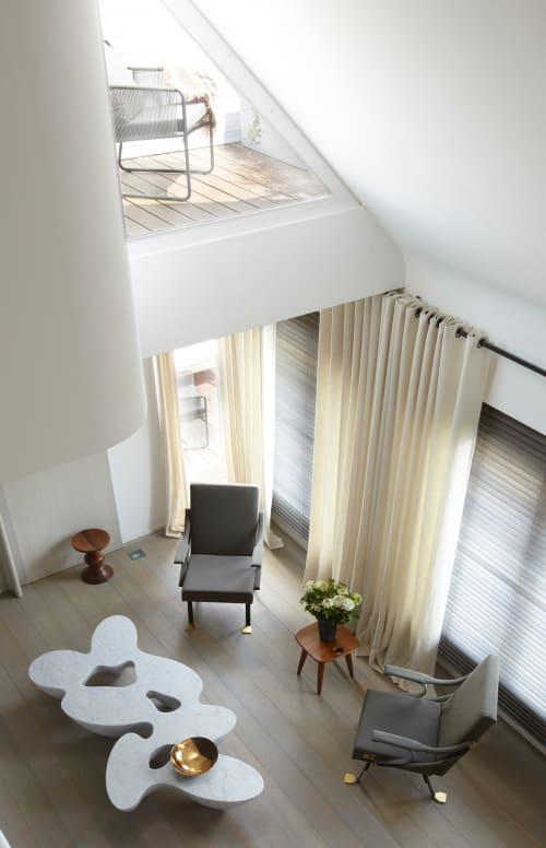 Tables by Babled Design at Paris Apartment, Paris - Quark Marble