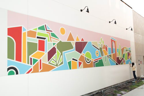 Murals by Muzae Sesay seen at Tender Greens, Palo Alto - Farm to Table