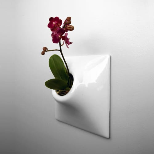 Vases & Vessels by Pandemic Design Studio - Ceramic Wall Planter Configuration - The Node Collection