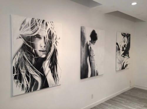 Paintings by Cindy Press seen at The White Room Gallery, Bridgehampton - Art Exhibit