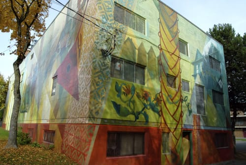 Murals by Richard Tetrault-artist seen at 800 Campbell Ave, Vancouver - Russian Hall Mural