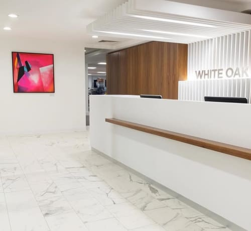 Paintings by Joanna Gilbert seen at White Oak UK, London - Another Time, Another Place