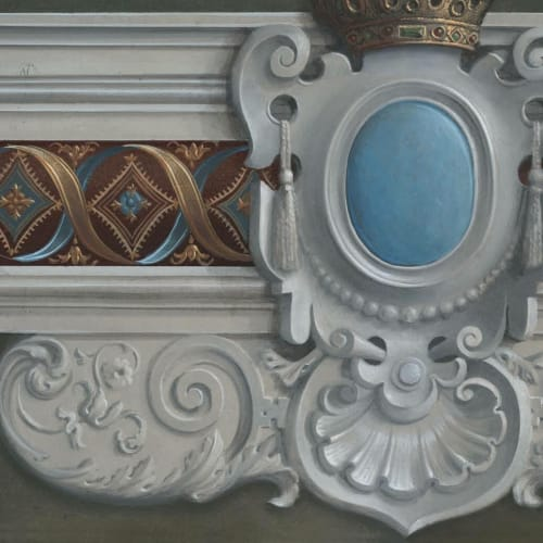 Murals by Alan Carroll Studio seen at Private Residence, New York - Hand-painted trompe l'oeil mural