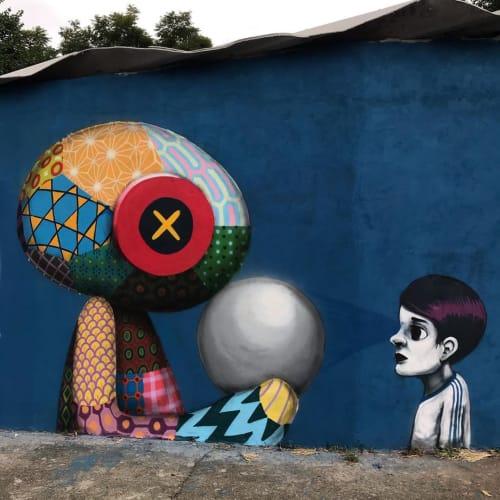 "Street Murals by Tinho seen at Vila Maria, Vila Maria - ""How will tomorrow be?"" Mural"