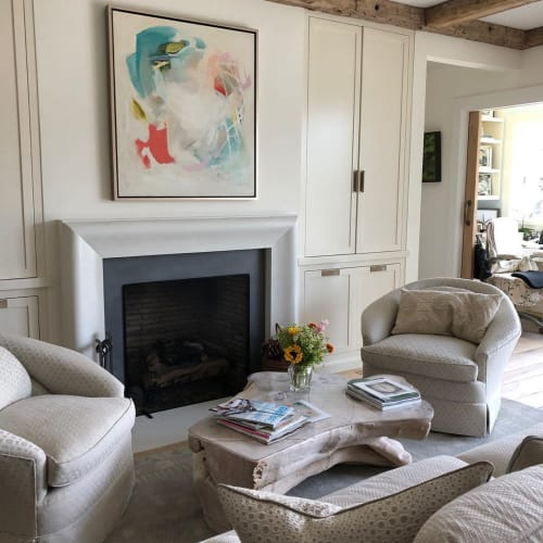 """Paintings by Katie Ré Scheidt seen at Private Residence, Norwalk - """"Ruby Dream"""" Painting"""