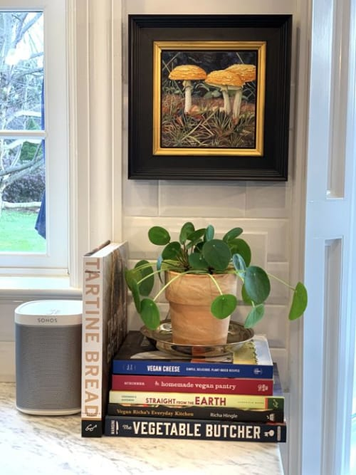 Paintings by Kim Minichiello seen at Private Residence - Maine Yellows