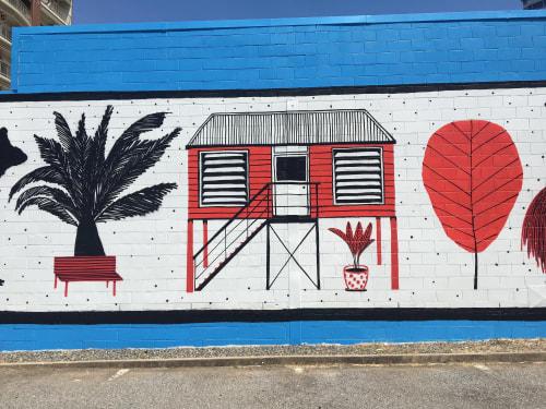 Street Murals by Tom Gerrard seen at Darwin, Darwin - Darwin Mural