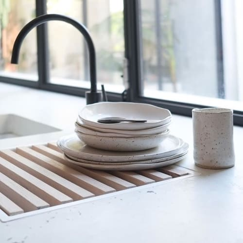 Tableware by Winterwares seen at Private Residence, Perth - Wabi-Sabi Inspired Dinnerware