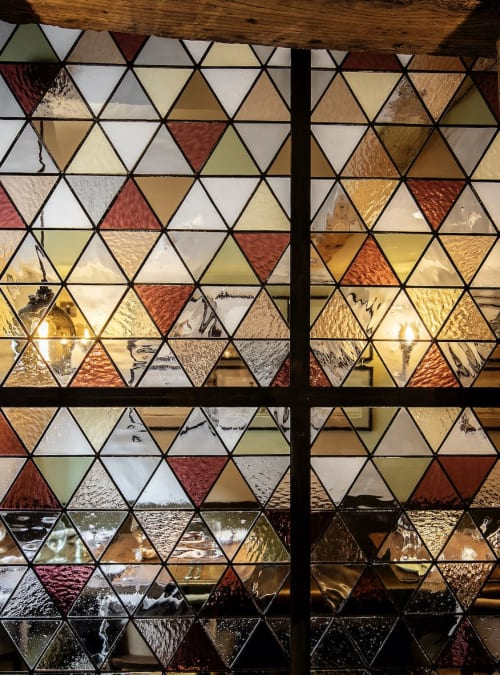 Art & Wall Decor by Bespoke Glass seen at The Falcon Buntingford, Buntingford - The Falcon Restaurant Stained Glass Divider