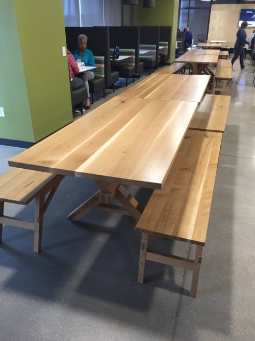 Tables by Goebel & Co. Furniture seen at Bunge North America Inc., Chesterfield - Bespoke Tables and Benches