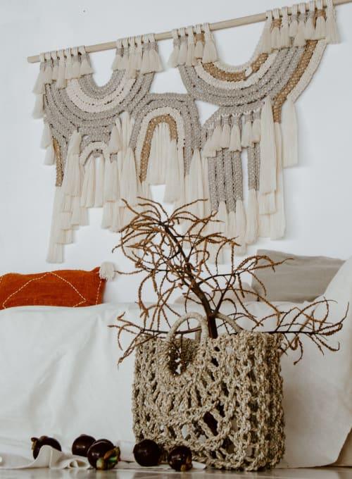 Macrame Wall Hanging by Ranran Design by Belen Senra - Organic Minimal Macrame Fiber Art