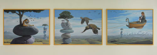 Paintings by Paul Bond seen at Valley Children's Hospital, Madera - Untitle Commission