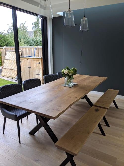Live Edge Oak Table & Bench Set | Tables by Rag & Byrne