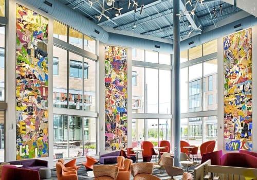 Art & Wall Decor by Stephen T. Johnson seen at Johnson County Library - Lenexa City Center, Lenexa - Interconnections