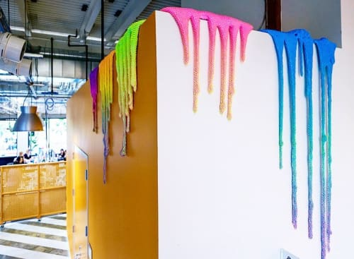 Art & Wall Decor by Dan Lam seen at Facebook HQ, Menlo Park - FB AIR Program Drips