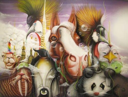 Paintings by Dalata seen at Private Residence, Brasília - derretelandiaatnight