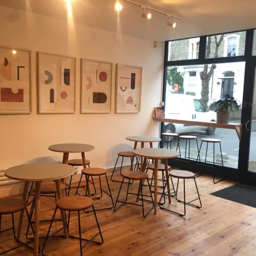 Paintings by Hannah Ludnow seen at Kentish Town Stores, London - Series of Paintings