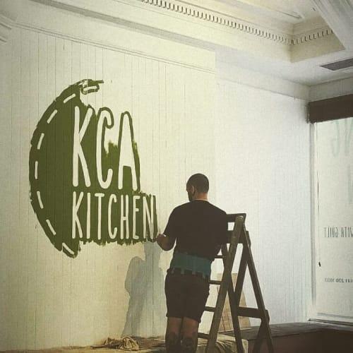 Kcal Kitchen Logo | Murals by Journeyman Signs (TATCH) | Kcal Kitchen in Edinburgh