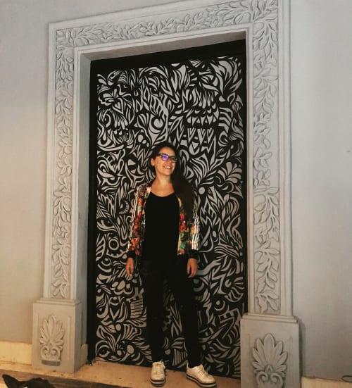 Murals by Demencia Beivide seen at B House, Santiago de Querétaro - Demencia Beivide 's subconcious mind