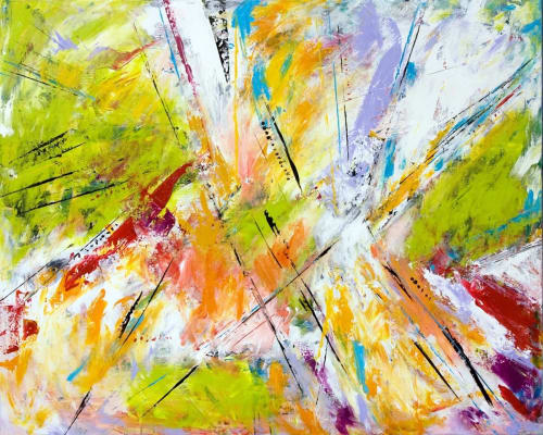 Paintings by Susan LaMantia seen at Private Residence, Cary - abstract expressionism