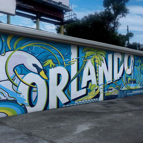 Street Murals by Morgan Summers seen at Creator's Studio, Orlando - Orlando Surreal Mural