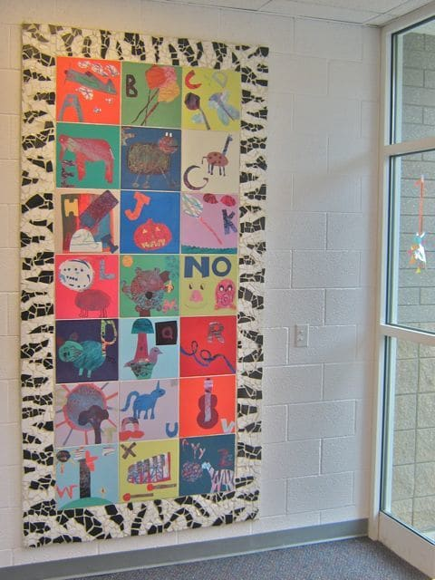 Murals by Roger Whiting seen at Viewmont Elementary School, Murray - Printed Tile Mural