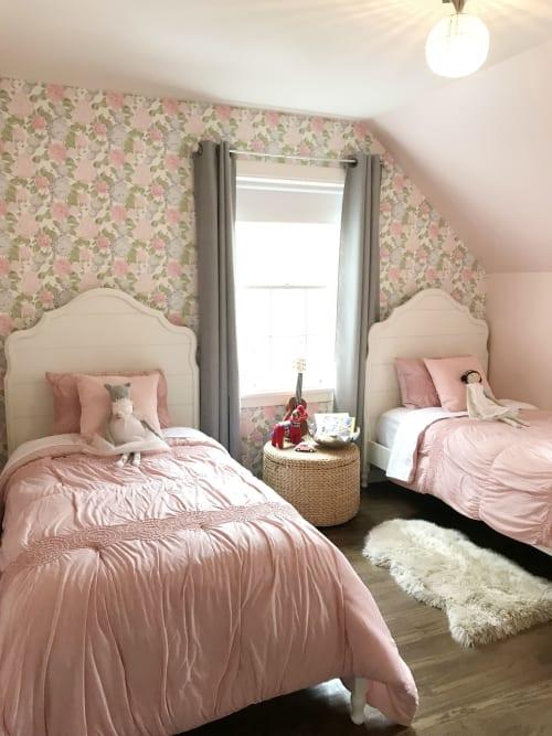 Wallpaper by Ellie Hazlett Studio seen at Private Residence, Winnetka - Issy's Room