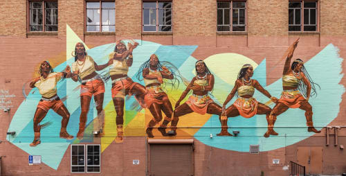 Street Murals by Rachel Wolfe-Goldsmith seen at 401 13th St, Oakland - Our Movement