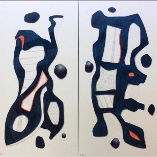 Paintings by Steve McElroy seen at Private Residence, Highland Park - Blues Brothers