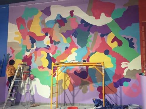 Murals by SamarSalam.art seen at Yoyo's Fun Center, Westland - Children's pottery room
