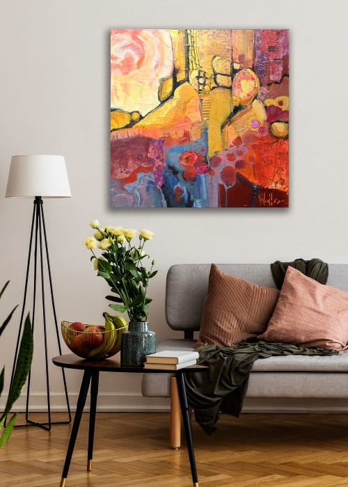 Paintings by Shelli Walters Studio seen at Private Residence, Rochester - Falling Up Painting