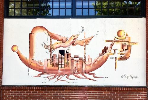 Murals by FullyartbySophie seen at Portland, Portland - Renaissance- street art mural during the lockdown.