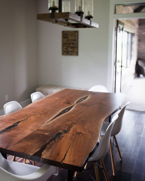 Tables by Stockton Heritage seen at Private Residence, Hastings - Black Walnut Dining Table
