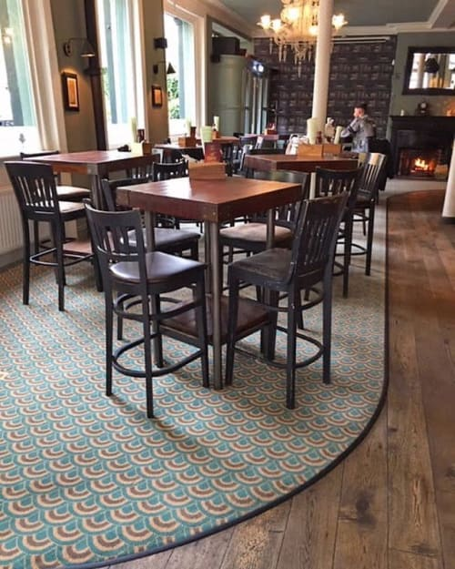 Rugs by Gaskell Mackay seen at Highbury Barn Tavern, London - The Higbury Barn