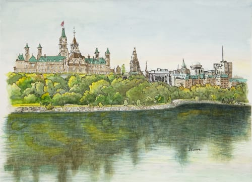 Paintings by Maurice Dionne FINEART seen at Foyer Gallery Ottawa, Ottawa - Skyline