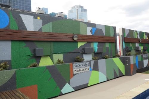 Street Murals by FIKARIS seen at CBD, Melbourne - Rydges