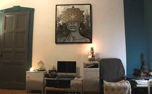 Paintings by Iam Thea seen at Bud & Marilyn's, Philadelphia - Tetrahedron