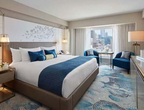 Linens & Bedding by Studio Twist seen at Hotel Nikko San Francisco, San Francisco - Knitted Throw in Polypropylene - Channel stitch