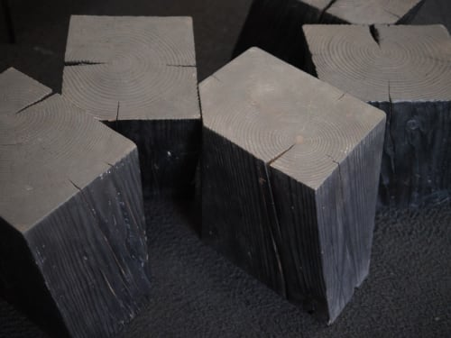 Chairs by Yvonne Mouser seen at Wescover Gallery at West Coast Craft SF 2019, San Francisco - Charcoal Blocks