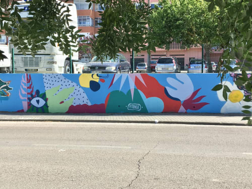 Street Murals by Pitanga seen at Amora, Amora - Mural Amora