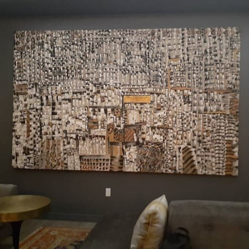 Paintings by Novei Beige seen at Angad Arts Hotel, St. Louis - Passages