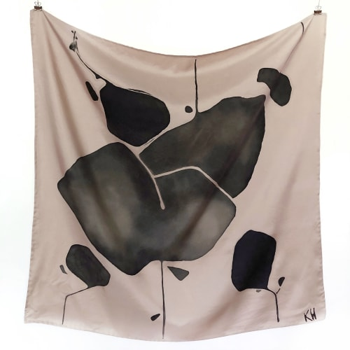 Apparel & Accessories by Kristi Head seen at Creator's Studio, Los Angeles - Hand Painted Silk Scarf - Dusty Rose